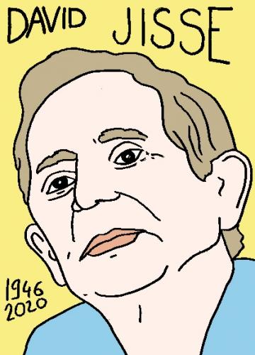 mort de David Jisse, dessin, portrait, laurent jacquy,répertoire des macchabées célèbres,mort d'homme,