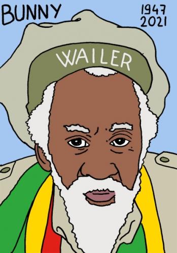 mort de Bunny Wailer,dessin,portrait,laurent Jacquy