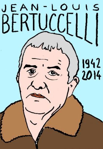 mort de jean louis bertuccellli,dessin,portrait,laurent jacquy,répertoire des macchabées célèbres,art modeste,cinéma