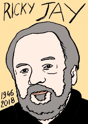 mort de Ricky Jay, dessin, portrait, laurent jacquy,répertoire des macchabées célèbres,mort d'homme,
