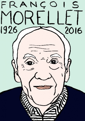 mort de françois morellet, dessin, portrait, laurent jacquy,répertoire des macchabées célèbres,mort d'homme,