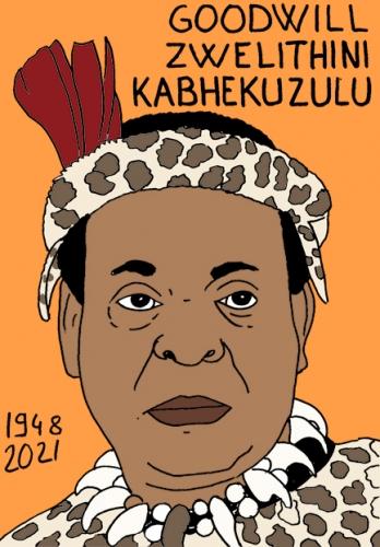 mort de GoodWill Zwelithini Kabhekuzulu,dessin,portrait,laurent Jacquy