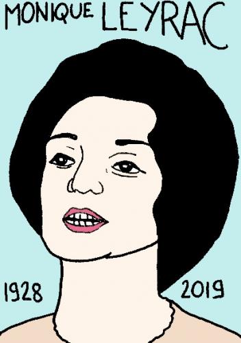 mort de Monique Leyrac, dessin, portrait, laurent jacquy,répertoire des macchabées célèbres,mort d'homme,