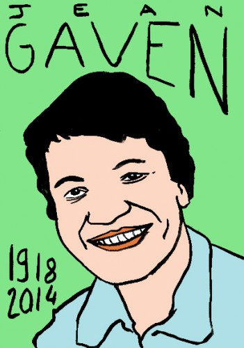 Mort de Jean Gaven,portrait,dessin,laurent jacqut,répertoire des macchabées célèbres,art modeste