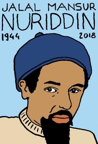 mort de jalal mansur nuriddin, dessin, portrait, laurent jacquy,répertoire des macchabées célèbres,mort d'homme,