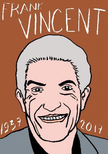 mort de Frank Vincent, dessin, portrait, laurent jacquy,répertoire des macchabées célèbres,mort d'homme,