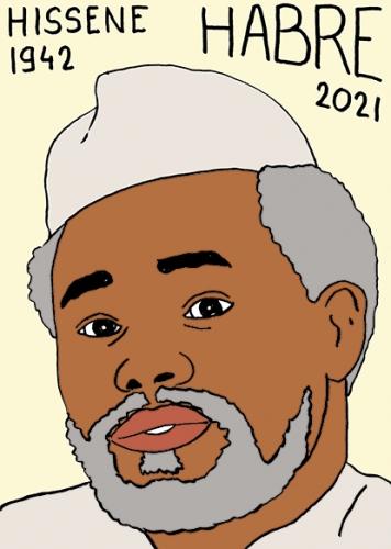 mort de Hissène Habré,dessin,portrait,laurent Jacquy