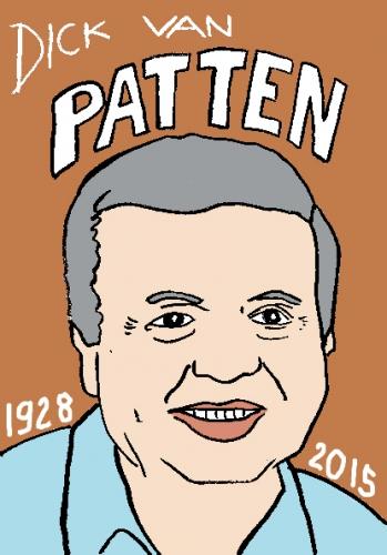 mort de dick van patten, dessin, portrait, laurent jacquy,répertoire des macchabbées célèbres, visage,mort d'homme