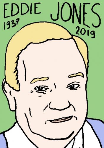 mort d'eddie Jones, dessin, portrait, laurent jacquy,répertoire des macchabées célèbres,mort d'homme,