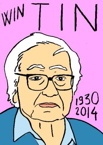 mort de win tin,portrait,dessin,laurent jacquy,répertoire des macchabées célèbres